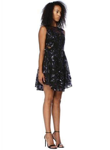 Floor Elbise Siyah